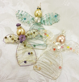 Wirework Angel Decoration Kit with SWAROVSKI® ELEMENTS Peachy Princess